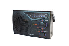 Rádio clássico do transistor isolado Foto de Stock Royalty Free