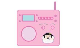 Rádio cor-de-rosa Fotografia de Stock
