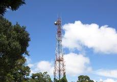 Rádio da antena e do satélite Fotografia de Stock