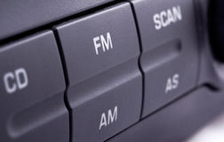 Rádio de carro foto de stock