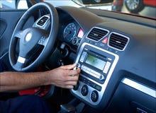 Rádio de carro de ajustamento Fotografia de Stock Royalty Free