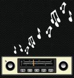 Rádio de carro retro do estilo Fotos de Stock