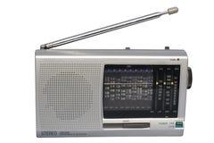 Rádio de prata do mundo Imagem de Stock Royalty Free