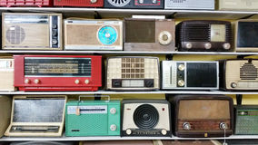 Rádio de transistor antigo Fotografia de Stock
