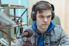 Rádio DJ do retrato do homem Fotografia de Stock Royalty Free