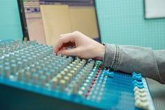 Rádio DJ do retrato do homem Imagem de Stock