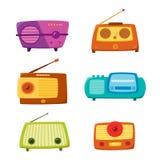 Rádio do vintage isolado no fundo branco Ilustração do vetor Fotos de Stock Royalty Free
