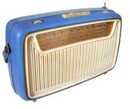 rádio dos anos 60 (azul) imagens de stock