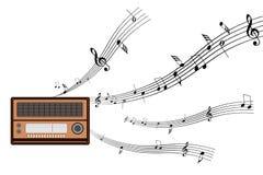 Rádio e música Ilustração Royalty Free
