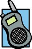 Rádio em dois sentidos móvel ilustração royalty free