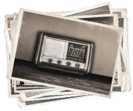 Rádio formado das fotos vintage velho Imagem de Stock Royalty Free