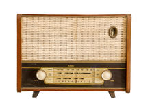 Rádio formado vintage fotos de stock royalty free