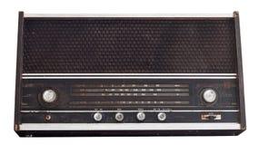 Rádio formado vintage isolado no branco foto de stock royalty free