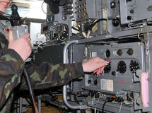 Rádio militar Fotos de Stock Royalty Free