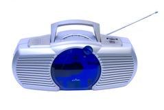 Rádio moderno e reprodutor de CDs Fotografia de Stock