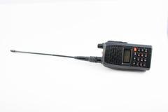 Rádio portátil no branco imagem de stock royalty free