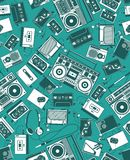 Rádio retro Fotografia de Stock Royalty Free