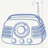 Rádio retro ilustração royalty free