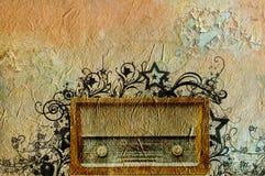 Rádio retro da forma Fotografia de Stock