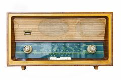 Rádio retro isolado Imagens de Stock