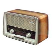 Rádio retro isolado no branco Foto de Stock