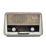 Rádio retro isolado no branco Fotografia de Stock