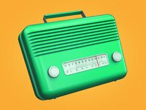 Rádio retro verde Fotos de Stock