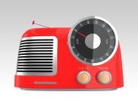 Rádio retro vermelho do estilo Imagens de Stock Royalty Free