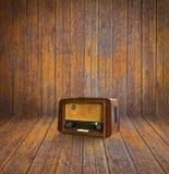 Rádio velho do quarto e do vintage Foto de Stock Royalty Free