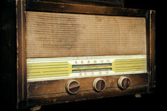 Rádio velho do vintage Imagem de Stock Royalty Free