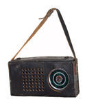 Rádio velho em um caso de couro Imagens de Stock
