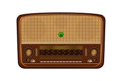 Rádio velho Ilustração realística de um receptor de rádio velho Imagem de Stock