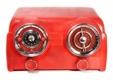 Rádio vermelho do vintage Imagem de Stock