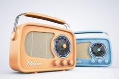 Rádios do vintage do close up fotos de stock royalty free