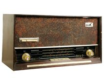 Rádios velhos imagens de stock royalty free