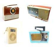 Rádios velhos do vintage imagens de stock