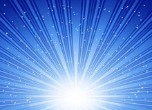 Ráfaga azul abstracta de estrellas Imágenes de archivo libres de regalías