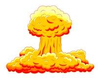 Ráfaga de bomba atómica en desierto Imagenes de archivo