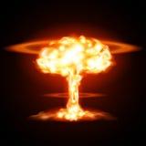 Ráfaga de bomba atómica en desierto Imágenes de archivo libres de regalías