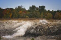 Ráfaga superficial de la mina Imagenes de archivo