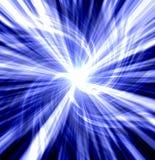 Ráfaga torcida azul Imagenes de archivo