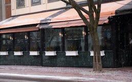 Ráfagas de nieve del café Fotografía de archivo