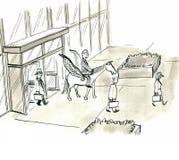 Rápido comute ilustração royalty free