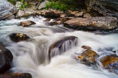 Rápidos del río de Linville Foto de archivo libre de regalías