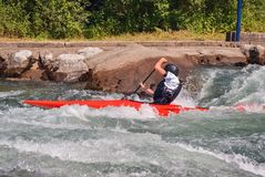 Rápidos y kayaker Kayaking fotos de archivo libres de regalías