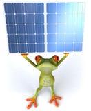 Râ com painéis solares Imagens de Stock
