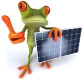 Râ com painéis solares Fotos de Stock Royalty Free
