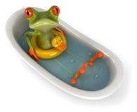 Râ em um banho ilustração stock