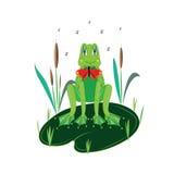 Râ verde encantadora. ilustração do vetor