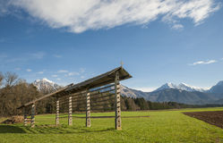 Râtelier, région de gorenjska, Slovénie Images stock